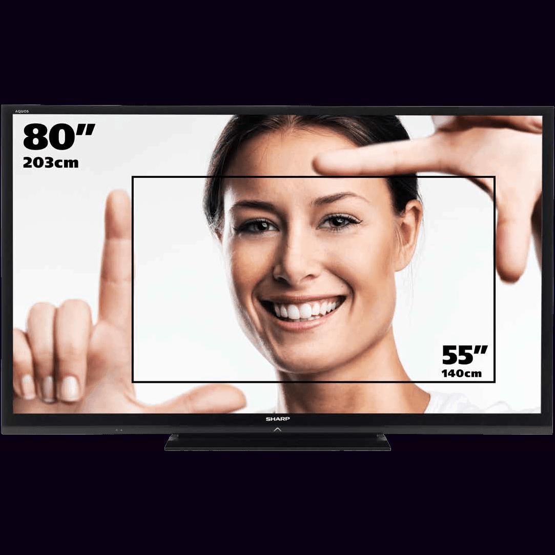 Bildschirm Monitor Display mieten Verleih 80 Zoll
